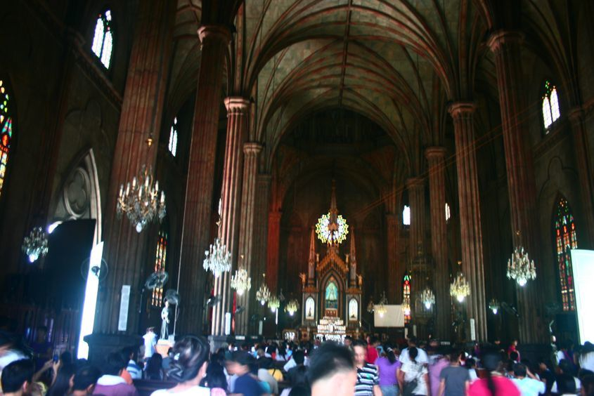 Interior of San Sebastian Church