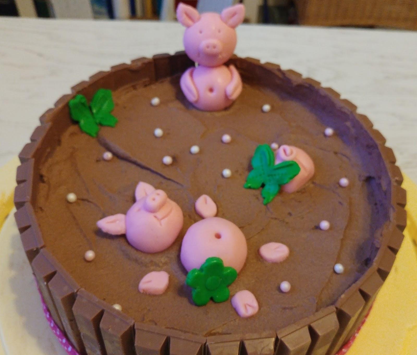 Vanessas Diary Kitkat Schweinchen Torte