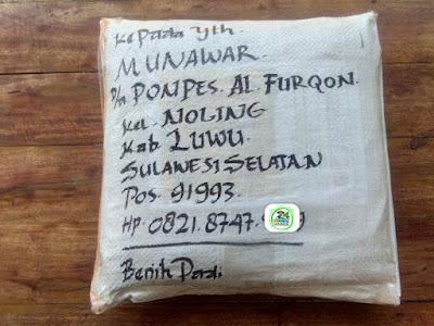 Benih pesana    MUNAWAR Luwu, Sulsel.   (Sesudah Packing)