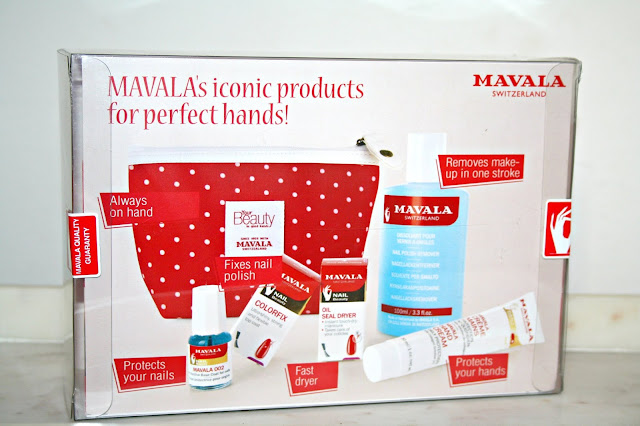 Inside MAVALA'S 60th Birthday Limited Edition Polka Dot Cosmetics Bag