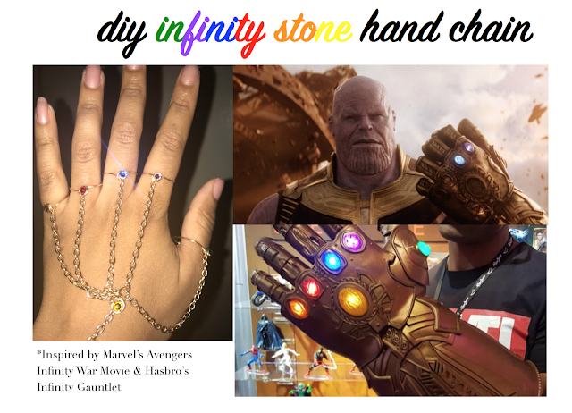 diy marvel's avengers infinity war gauntlet inspired hand chain also inspired by hasbro infinity gauntlet toy