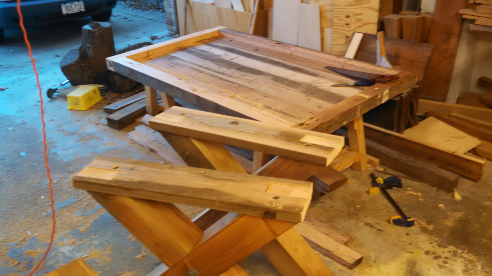 Westfall Woodcraft Reclaimed Dining Table With Dovetailed