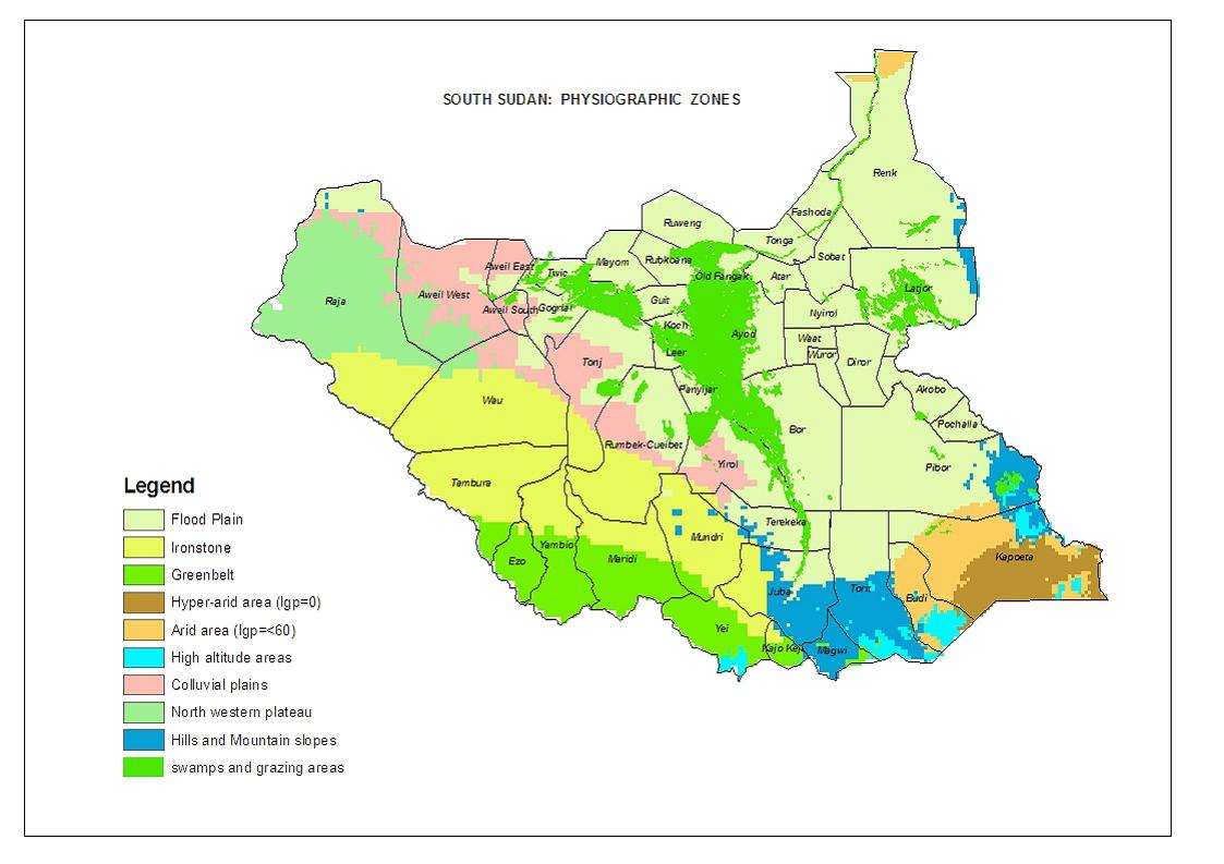 Sudão do Sul | Mapas Geográficos do Sudão do Sul