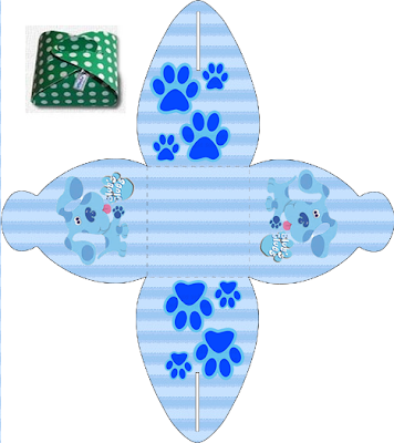 Blue Clues Free Printable Party Boxes.