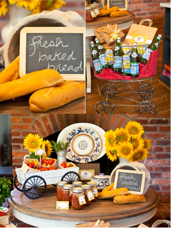 A taste of tuscany an italian fall dinner party party Fall decorating ideas for dinner party