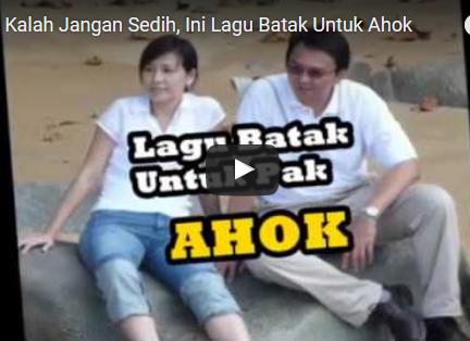 """Sedih, Inilah Lagu Batak Untuk Kekalahan Ahok """"Holan Hodo Ahok Na Boi Pature Jakarta"""""""
