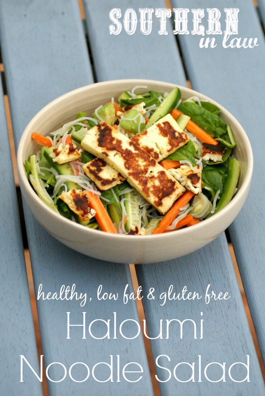 Haloumi Noodle Salad Recipe - healthy, gluten free, low fat