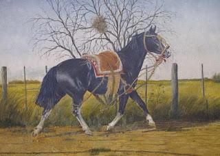 pinturas-de-caballos-con-reflejos-de-campos cuadros-caballos-paisajes