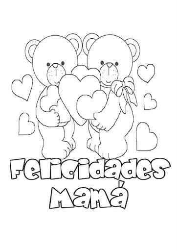 Ositos Felicidades Mamá Para Colorear Dibujo Views
