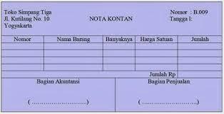 contoh Nota sebagai bukti transaksi pembelian tunai