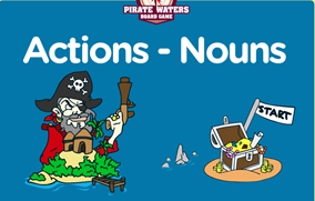 http://www.eslgamesplus.com/action-verbs-nouns-collocation-esl-vocabulary-pirate-board-game/