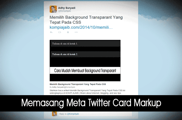 Meta Twitter Card Markup