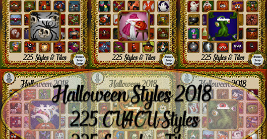 225 CU4CU Halloween Styles & Seamless Tiles From Brenda's Scrap Design.