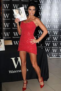 Katie Price In Short Red Dress