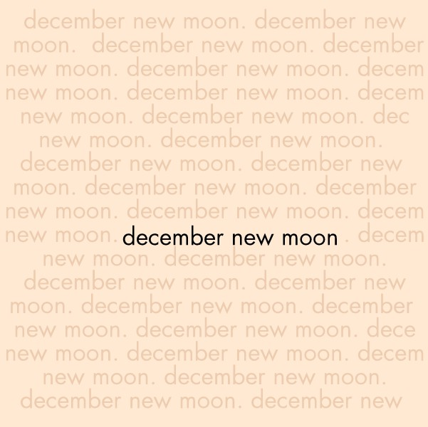 The December New Moon