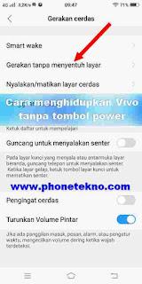 Cara Menghidupkan Vivo V9 Tanpa Tombol Power