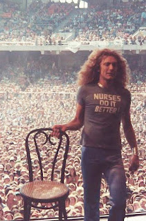 Nurses Do It Better t-shirt as worn by Robert Plant of Led Zeppelin. PYGOD.COM
