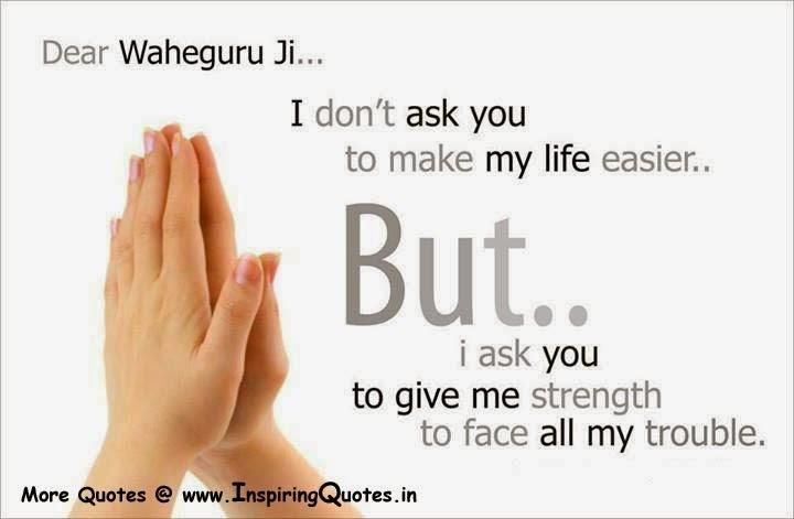 Waheguru Ji Quotes Good Sayings Satnam Waheguru Thoughts