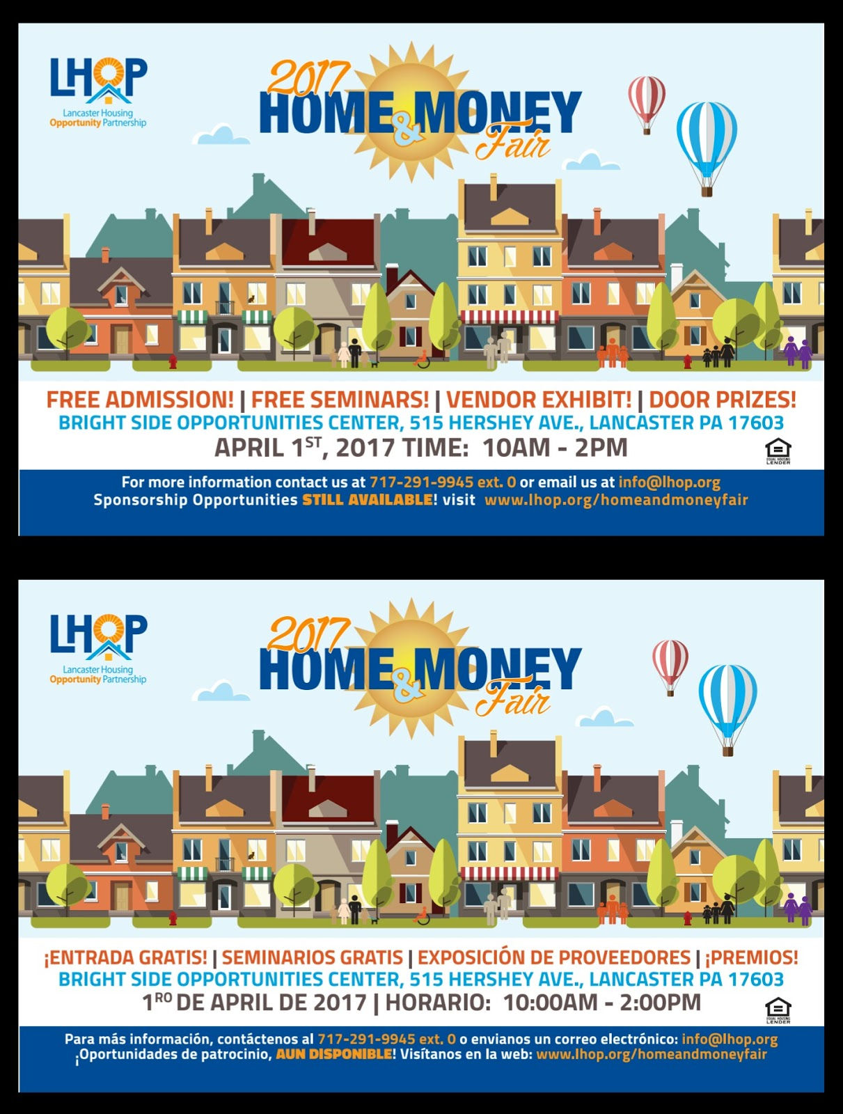 The lancaster housing opportunity partnership lhop home money fair will be held on april 1 at bright side opportunities center 515 hershey avenue
