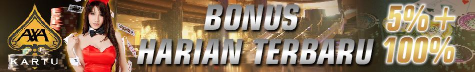 Bonus Deposit 5% + 100% Terbaru