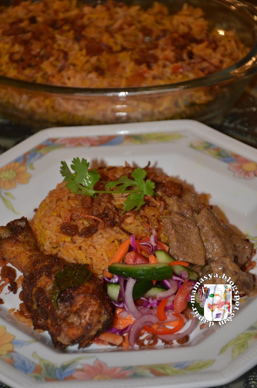 Dapur Mamasya: Nasi Beriani Massala & Gulai Daging Unta