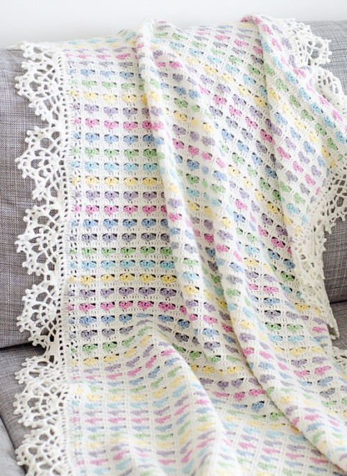 Light Hearts Blanket - Free Pattern