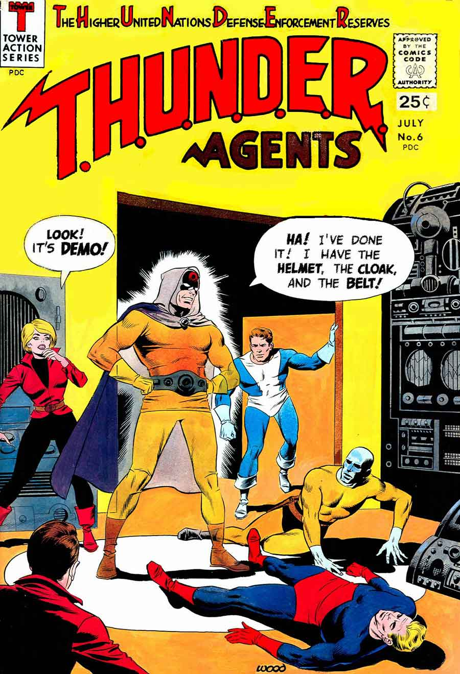 Thunder Agents v1 #6 tower silver age 1960s comic book cover art by Wally Wood