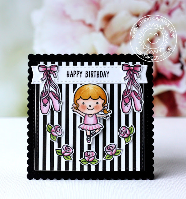Sunny Studio Stamps: Tiny Dancers Purrfect Birthday Birthday Cards by Karin Akesdotter