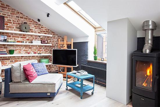 parede de tijolos, apartamento pequeno, otimizar espaço, decoracao industrial, industrial chique