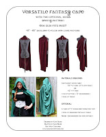 Versatile Fantasy Cape sewing pattern