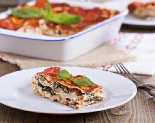 lasagna din tofu si spanac