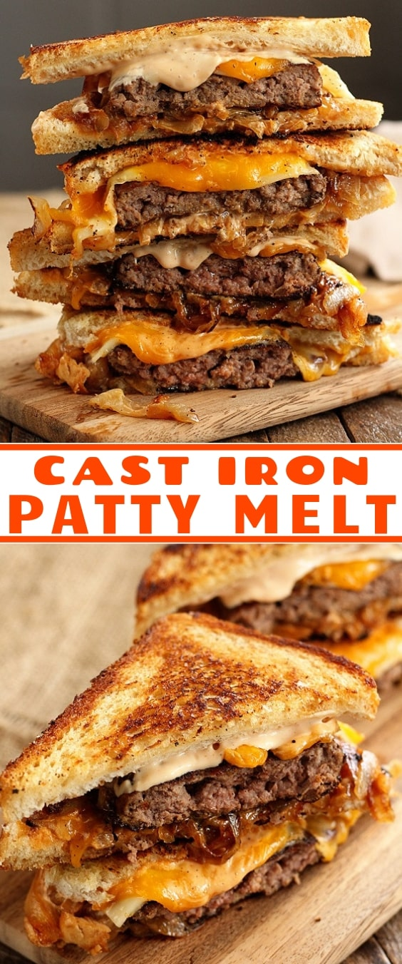 Cast Iron Patty Melt
