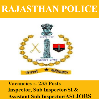 Government of Rajasthan, Rajasthan Police, Rajasthan, Police, Graduation, SI, ASI, Sub Inspector, Inspector, freejobalert, Sarkari Naukri, Latest Jobs, rajsthan police logo