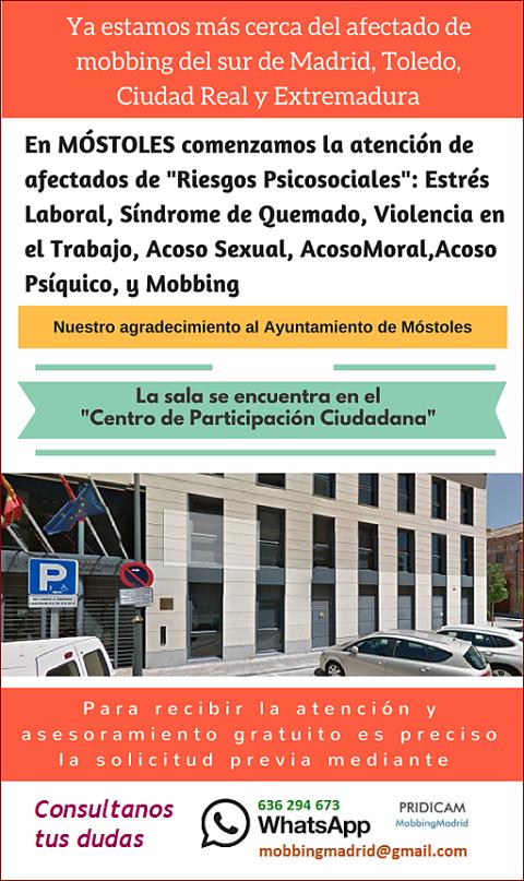 MobbingMadrid Ya estamos más cerca del afectado de mobbing del sur de Madrid,Toledo,Ciudad Real y Extremadura