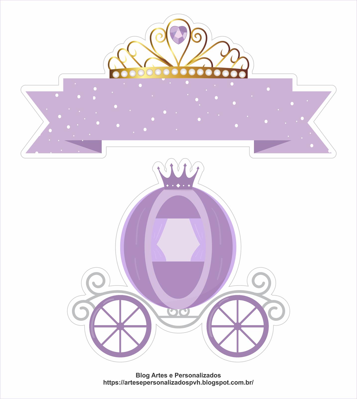 Artes E Personalizados Arte Topo De Bolo Princesa