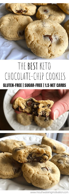 Chewy Keto Chocolate-chip Cookies