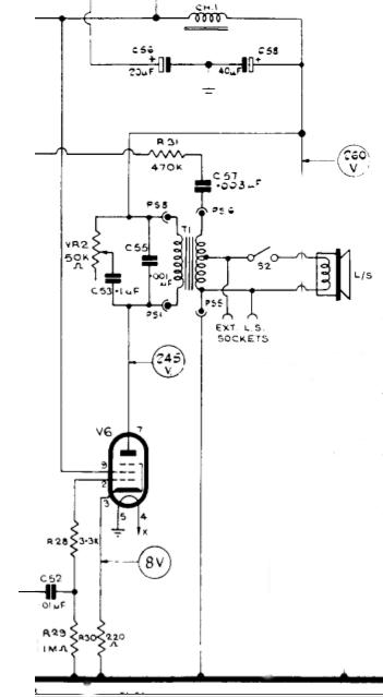 thermionic pentode valve EL84 audio