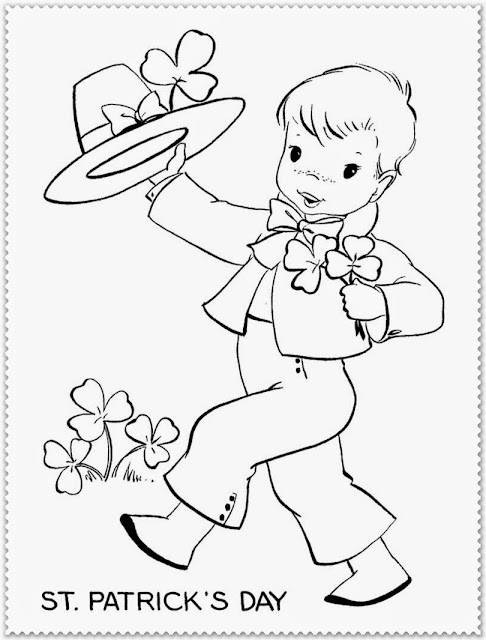 saint patrick's day printable coloring pages