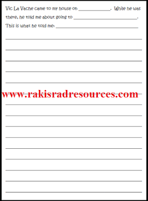 Free classroom management and writing activity from Raki's Rad Resources