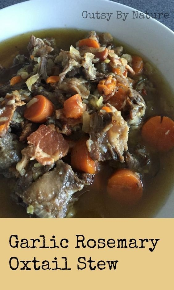 Garlic Rosemary Oxtail Stew