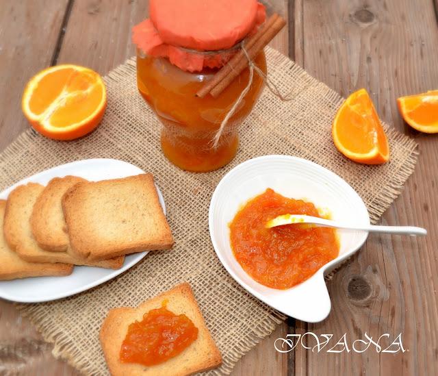 Сладко от портокали с канела