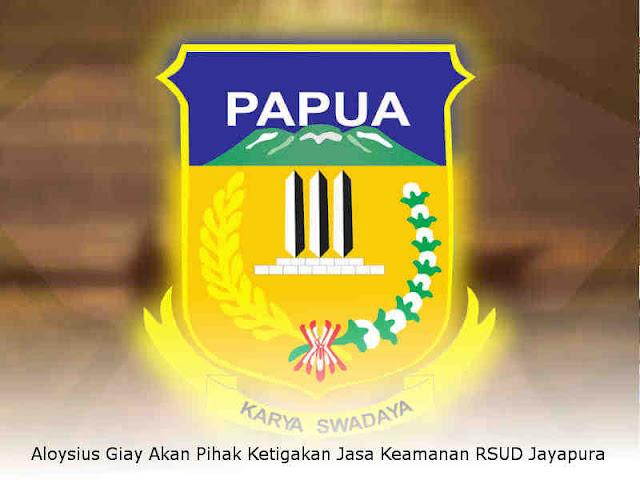 Aloysius Giay Akan Pihak Ketigakan Jasa Keamanan RSUD Jayapura