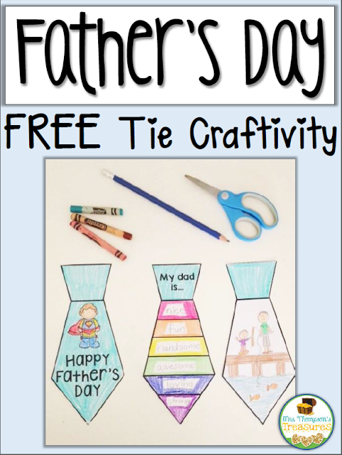Free Father's Day Tie Craft Activity