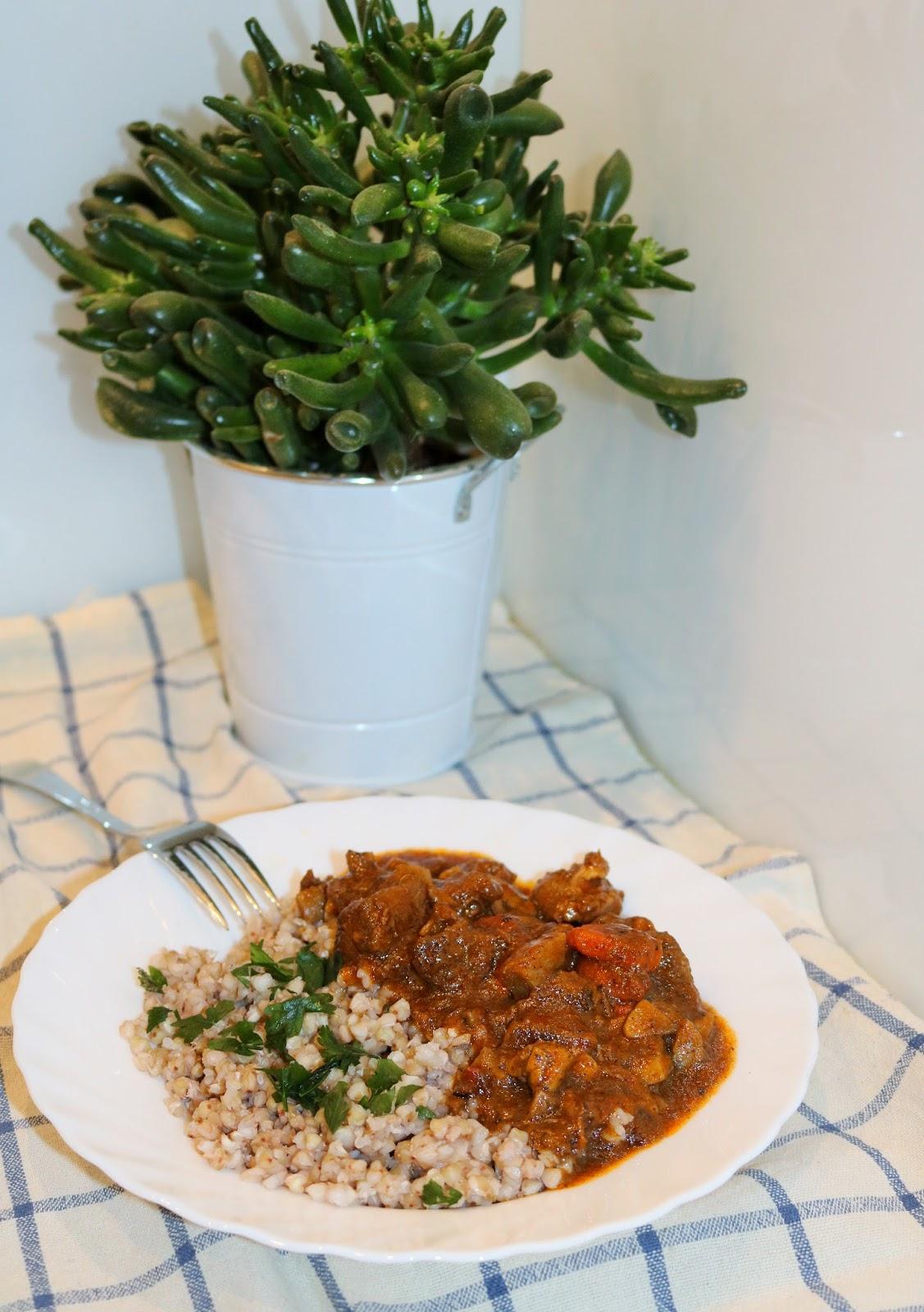 smaczny i sycący obiad z kasza gryczaną