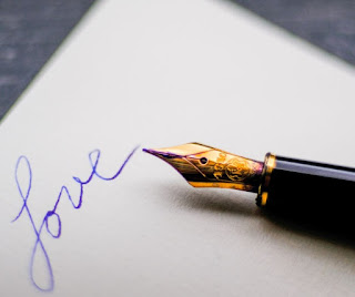 Fountain pen that's written the word love