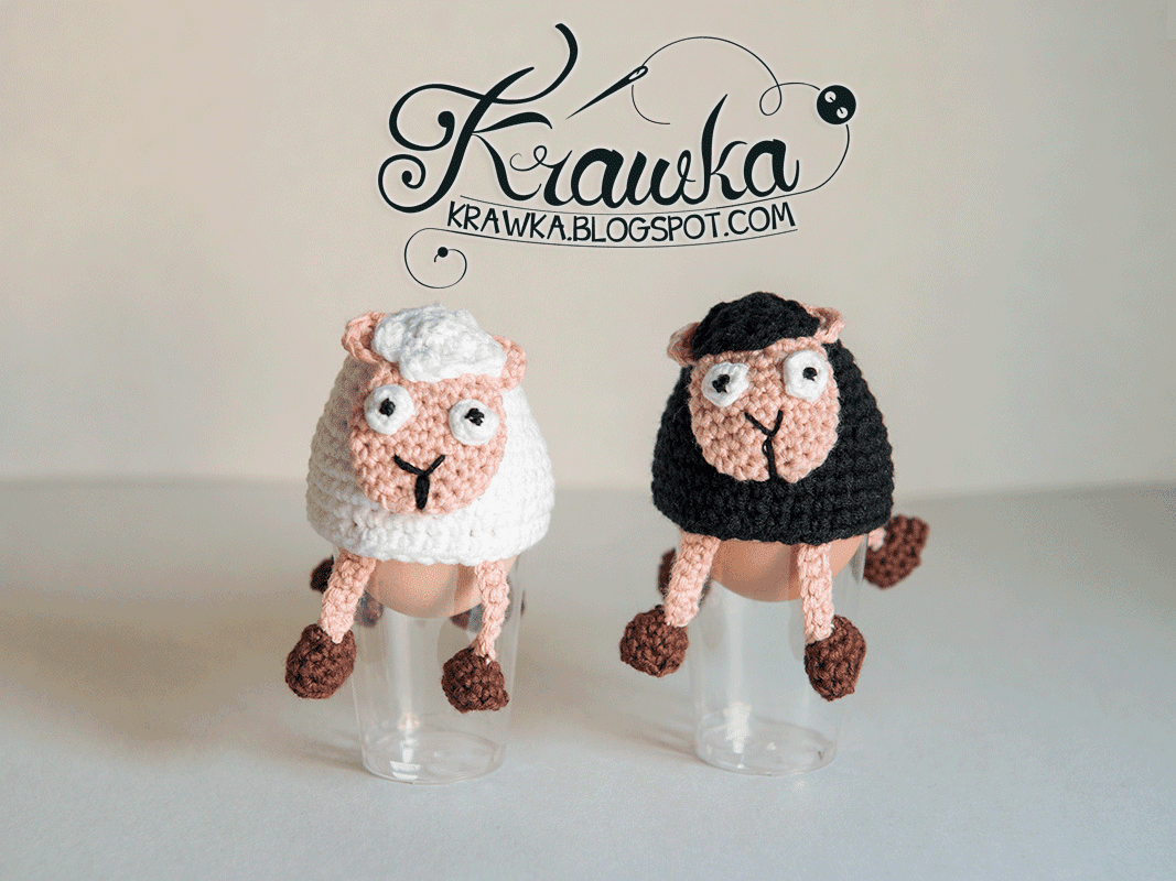 Krawka: Sheep - Easter egg cozies - Free Pattern to make it yourself