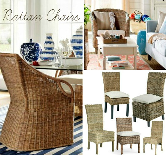 Rattan Chairs For Coastal Beach Style