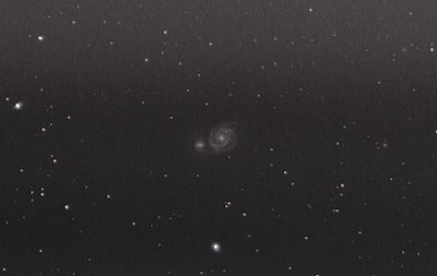 m51 whirlpool galaxy dslr 200mm