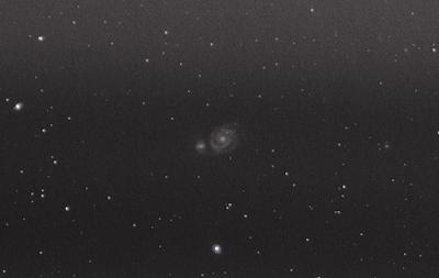 m51 whirlpool galaxy dslr 200mm