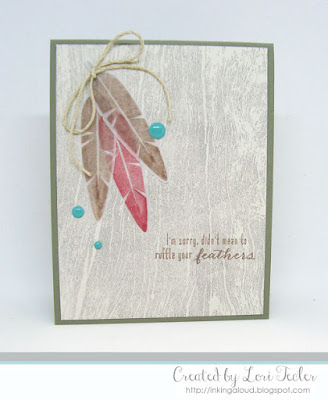 Ruffle Your Feathers card-designed by Lori Tecler/Inking Aloud-stamps and dies from Waltzingmouse Stamps